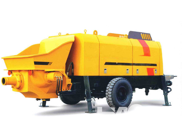The basic structure of trailer concrete pump