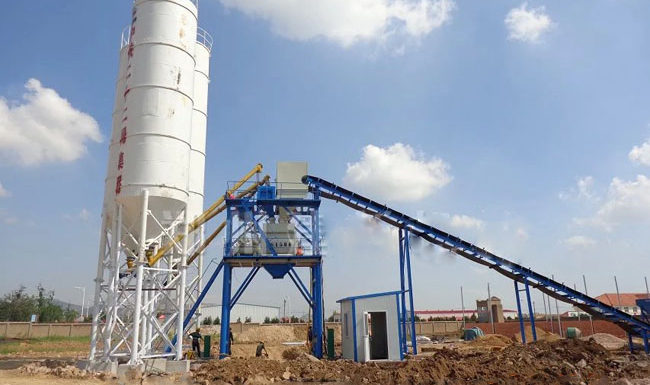 The basic installation of concrete batching plant