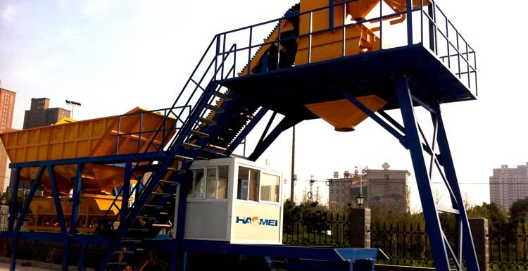 What is the mobile concrete batching plant price