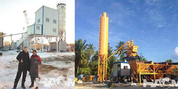 Two Types of Concrete Batch Plants in China