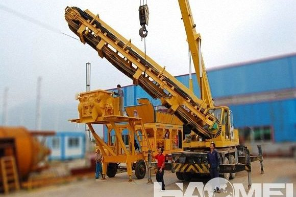 Concrete Portable Batch Plant for Road Building