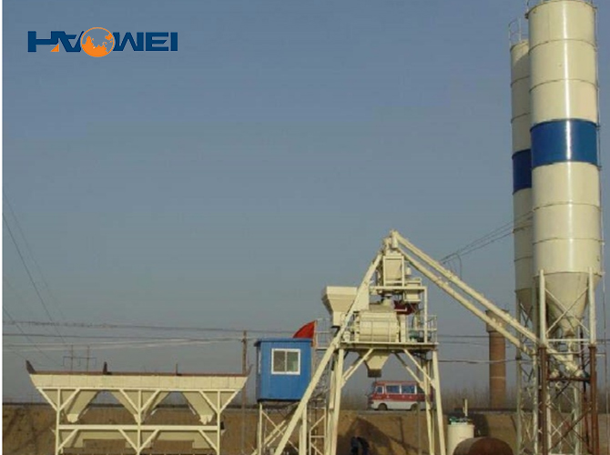 YHZS75 concrete batching plant for sale